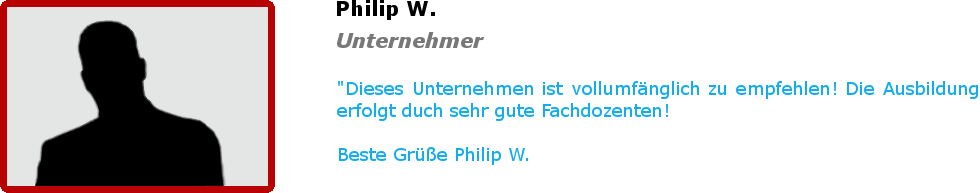 Bewertung - Philip W.