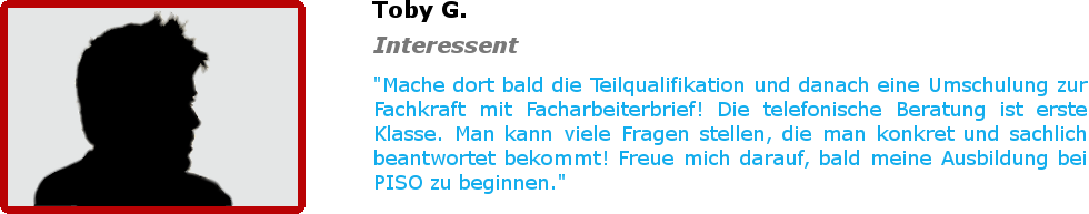 Bewertung - Toby G.